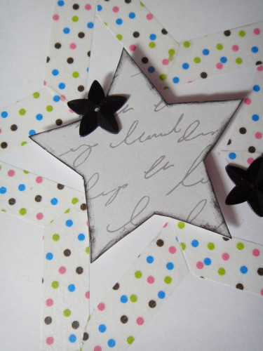 Masking tape, star, étoile, scrap, carte