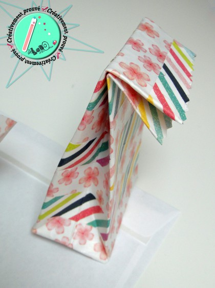 masking tape, enveloppe, mini lunch bag