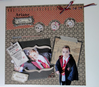 scrapbooking, scrap, 30x30, page, carnaval, harry potter, sketch