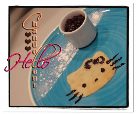 Hello Kitty, crepe, chocolat, chandeleur