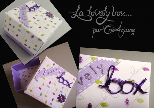 Boite origami, lovely box,scrap'