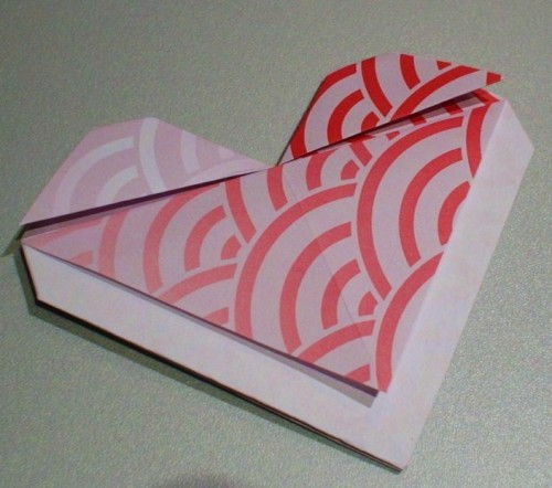 Origami, heart, japan, wave pattern