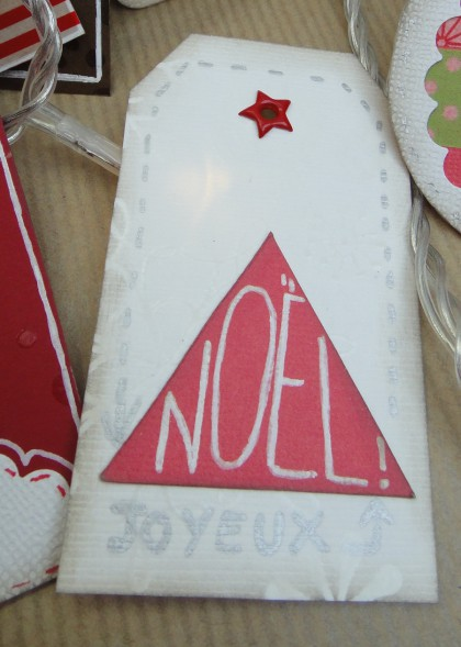 étiquette, tag, triangle, noel